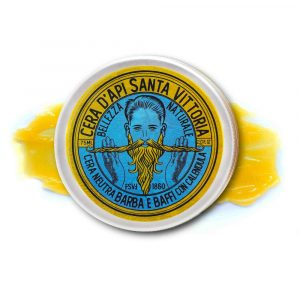 Beard, Mustache and skin care Beeswax Balm with pure essential oil and Food-Grade Ingredients
